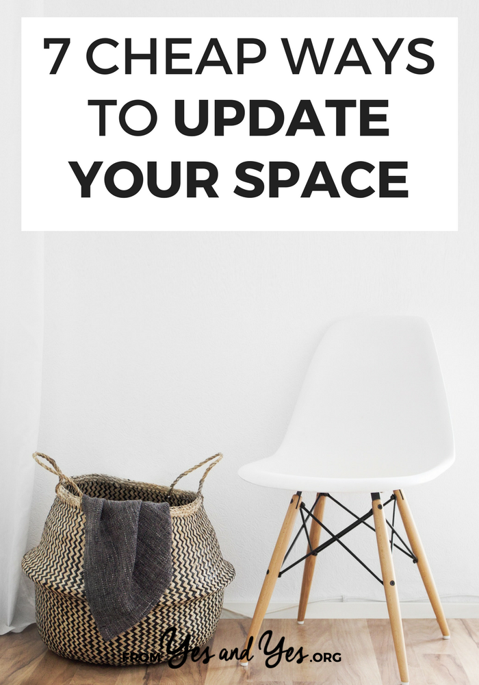 Want to update your space? Looking for cheap design tips and easy decor tips that make a big difference? Look no further! I swear by these 7 decor ideas - I do them once or twice a year! #budgetdecorating #thriftydecor #moneytips #personalfinance #FIRE