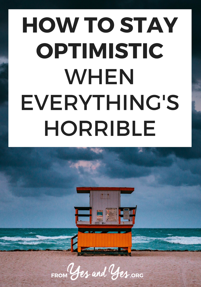 How do you stay optimistic when current events are heart breaking and the earth is slowly warming? It's not easy but here are 5 things I do. #optimism #cheerup #moodboost