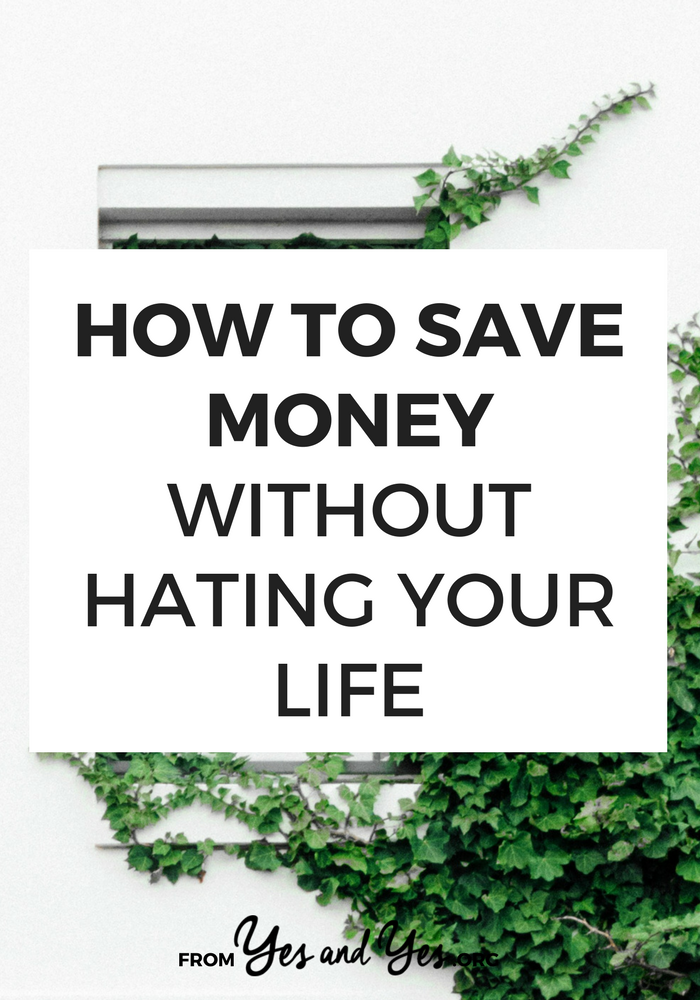 Want to know how to save money + live on a budget HAPPILY? Figure out which expenses + purchases bring you the most just - and then budget accordingly! // yesandyes.org