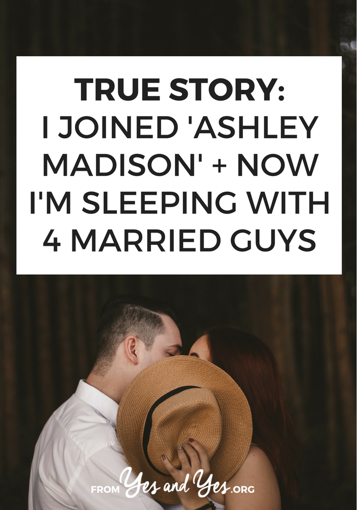 What's it like to use Ashley Madison? Could you ever date married guys? One woman shares her story of being 'the other woman' - on purpose.