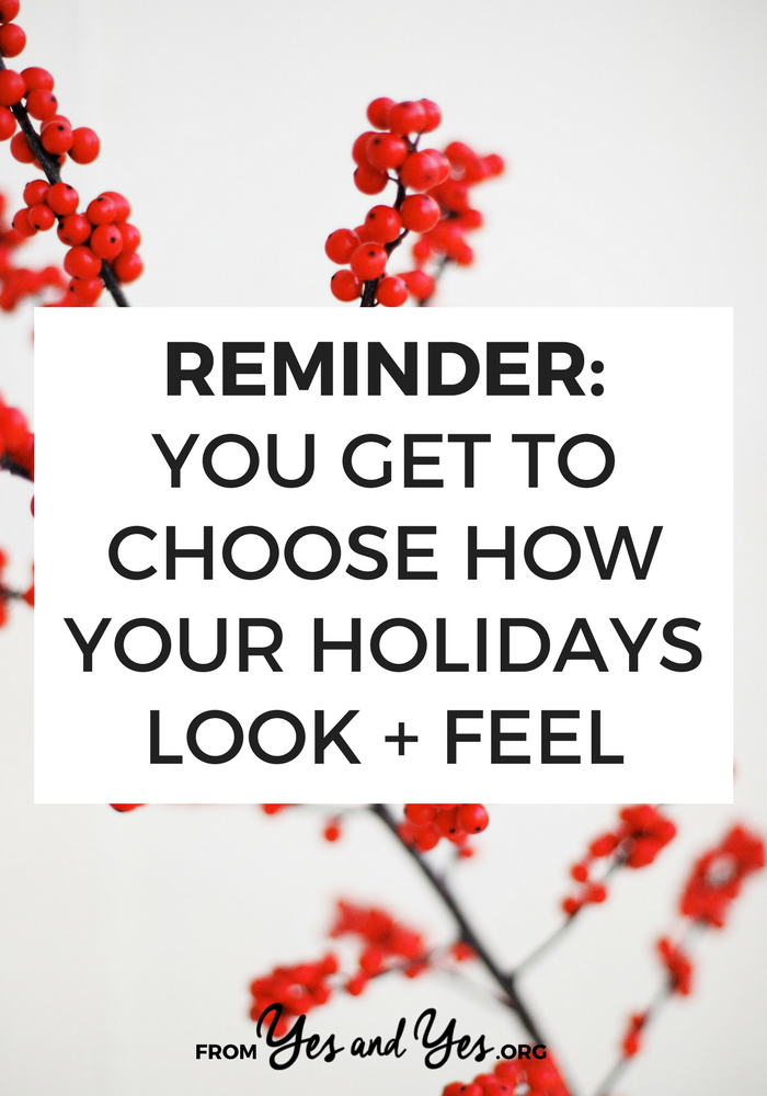 Do you want a minimalist Christmas? Or a calmer holiday season? It's easy to forget but we get to choose how we celebrate the holidays and if you want to opt out of a tradition or set of expectations, you can.
