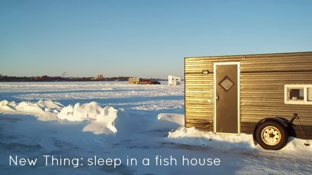 New Things: Sleep in a fish house