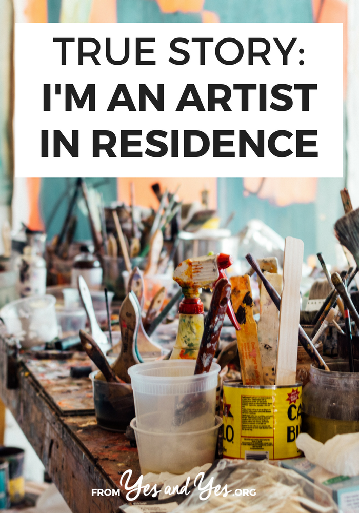 Want to become an artist in residence? Click through for one artist's story and tips to find your own art residency!