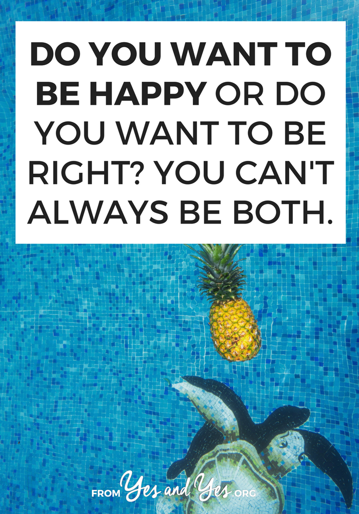 Do you want to be happy? Who doesn't? I bet you also like being right. Click through for a happiness tip most people won't tell you.