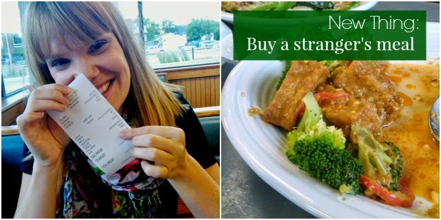 New Thing: Pay For A Stranger's Meal