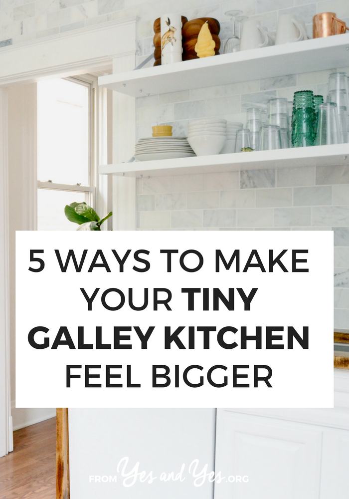Got a galley kitchen? You can make it feel less like a hallway and more like a real room with these five design tricks. Click through and find out how >> yesandyes.org