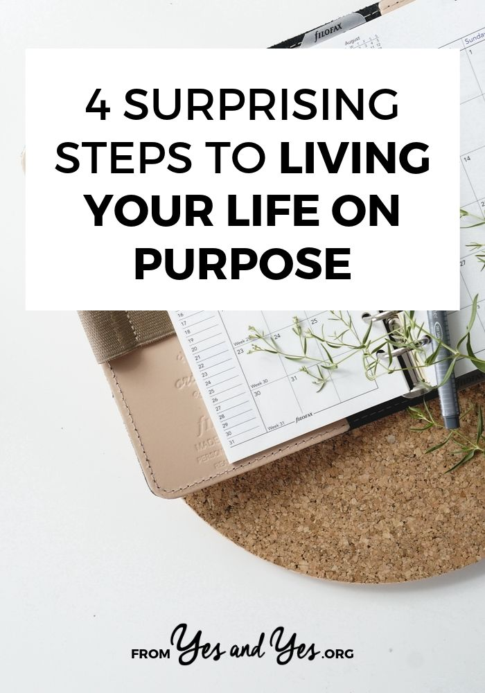 What does it mean to live life on purpose? What does intentional living look like? The answer is different for everyone. Click through for 4 things I do to make sure my life looks + feels the way I want. #selfdevelopment #selfhelp #motivation #intentionalliving