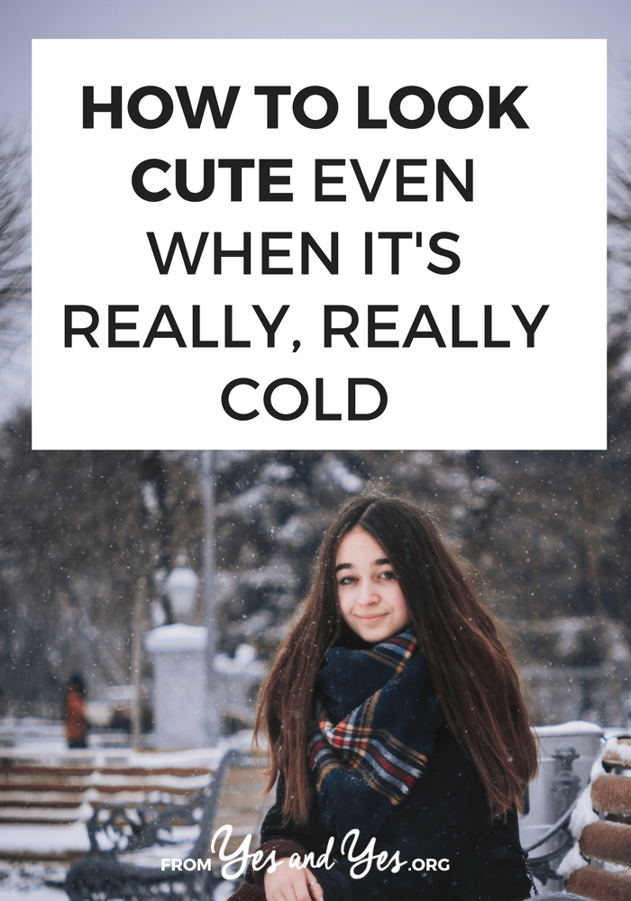 Winter style tips don't end with tights and boots! It's possible to look cute even when it's cold! Click through for winter hairstyle, winter makeup and skincare tips, and winter fashion advice! >> yesandyes.org