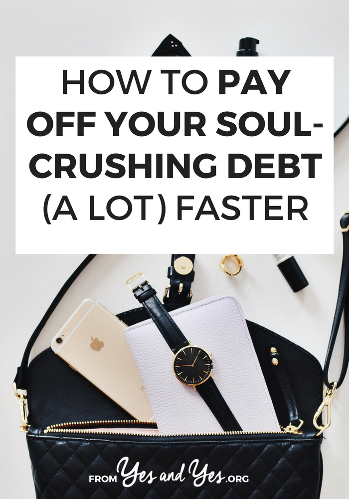 Want to pay off debt faster? Need some budgeting tips you haven't head a million times? I paid off $50,000 of school debt 5 years ahead of time - without hating my life or cutting coupons. Click through to find out how >> yesandyes.org