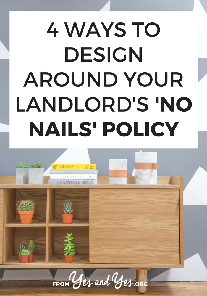 Looking for no nails design ideas? Struggling with old plaster or brick walls? Click through for 4 great design ideas that don't involve nails or screws!