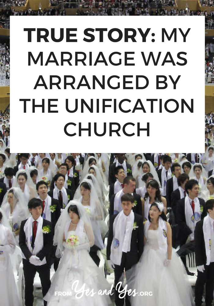What would it be like to have an arranged marriage? Click through for one woman's story of having her marriage arranged by the Unification Church!