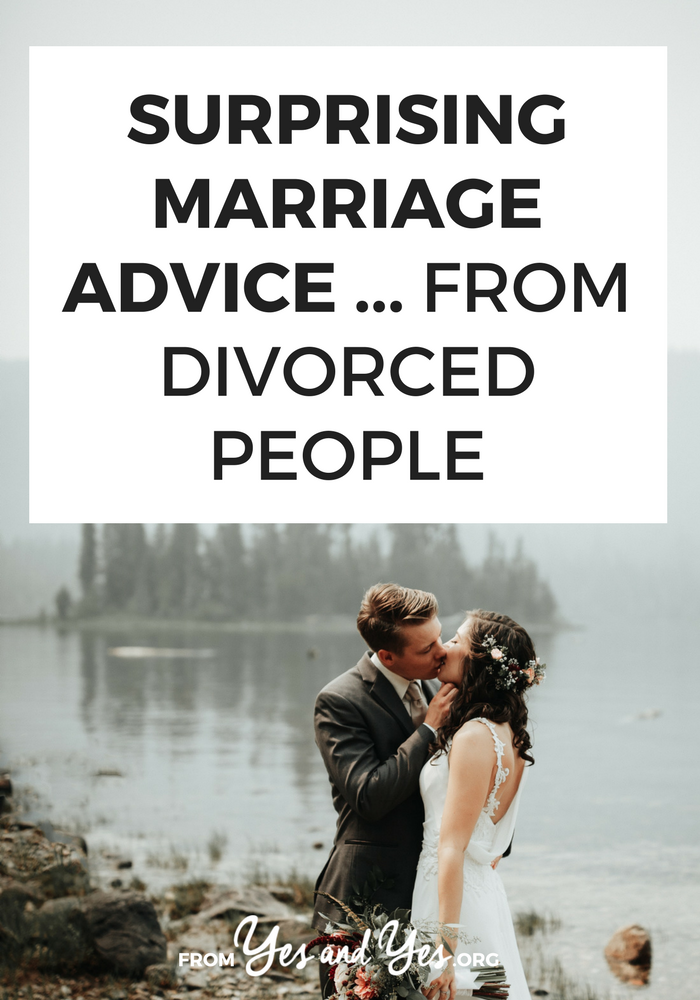 What kind of marriage advice could divorced people possible give you? You'd be amazed! Read on for marriage tips on keeping things fresh, romantic advice, and relationship tips you can use starting today. #relationshipadvice #marriageadvice #relationshiptips #divorce