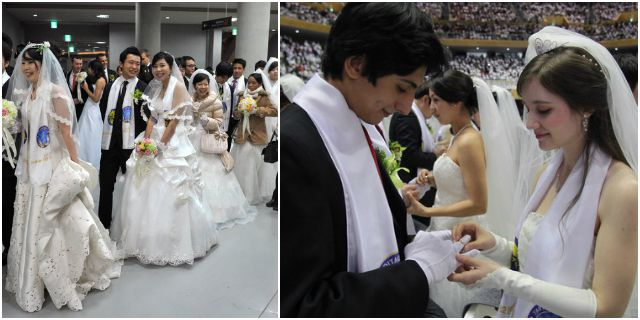 marriage arranged by unification church