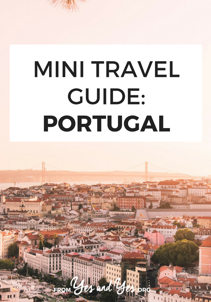 Want to visit Portugal? Portugal is incredibly affordable and safe. You'll love this written-by-a-local travel guide filled with travel tips on where to go, what to do, what to eat, and how to do it cheaply. Click through to start planning your trip! >> yesandyes.org