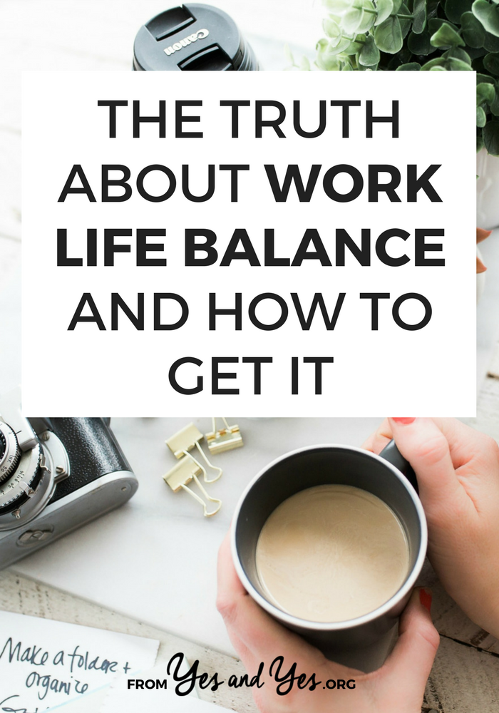 Are you searching for work life balance? Who's not?! It's not necessarily easy - and it's not for everyone! - but here are 4 epiphanies that have helped me work less and enjoy my life more. Click through to see if they'll work for you >> yesandyes.org