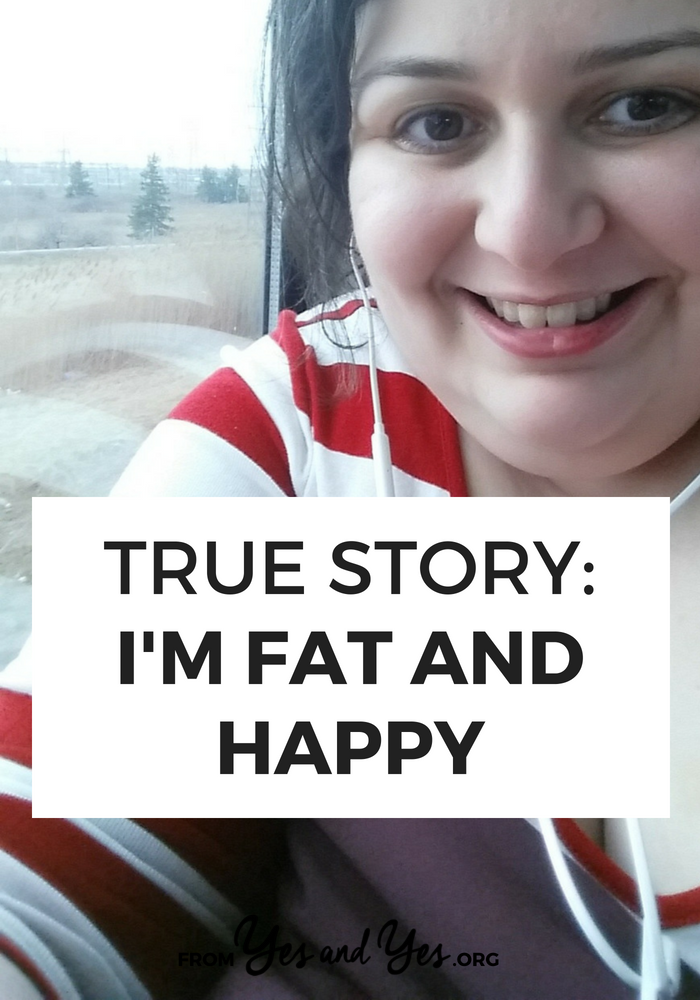 Is it possible to be fat AND happy? Of course! (Even if our culture doesn't make it easy.) This body positive interview is filled with inspiring tidbits and great tips for loving yourself, no matter your size >> yesandyes.org
