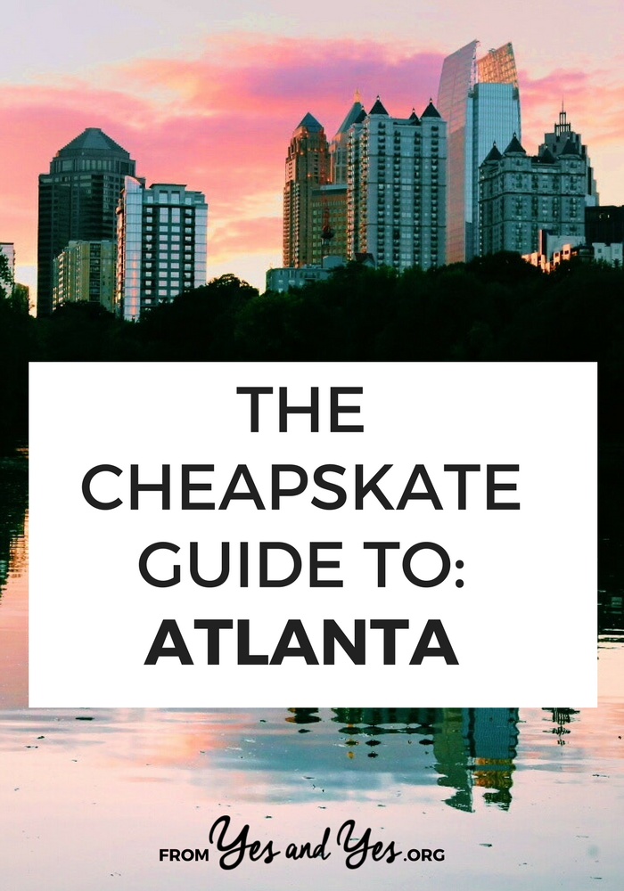 Want to travel cheap in Atlanta? Click through a local's best Atlanta budget travel tips: $15 camping, $1.95 biscuits, $10 river tubing, and free Walking Dead tours! #cheaptravel #Atlantatravel #budgettravel
