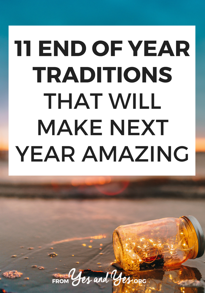 Looks for an end of year tradition that ISN'T writing a resolution or singing Auld Lang Syne? These 11 end of year rituals will make your home cleaner, your heart free-er, and even benefit your bank account. Click through and choose a few that work for you!