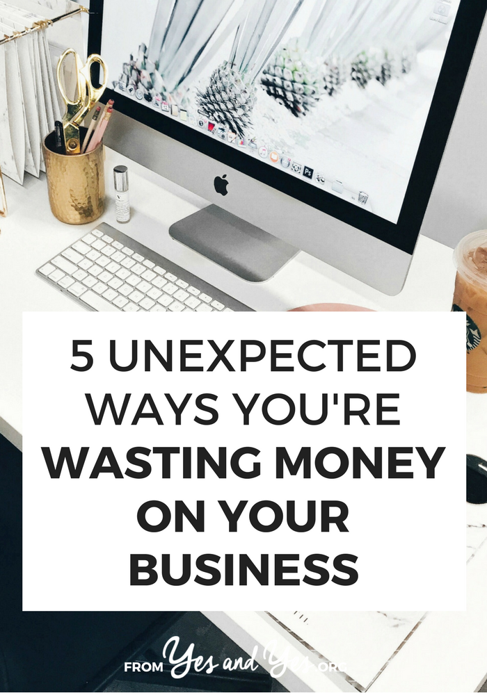 Are you wasting money on your business? Or trying to make a budget for your business? You might be spending money you don't need to spend. Read on for tips to tighten up your business budget! #FIRE #personalfinance #budgeting #moneytips #savemoney