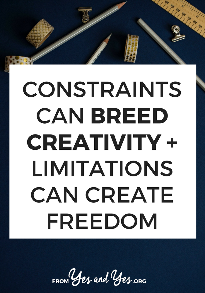 Looking for creativity tips? Add constraints or limitations! It's amazing the amount of freedom and creativity that can come from limitations! Click through to find out how
