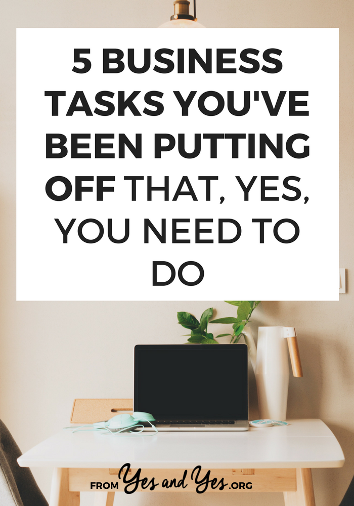 These business tasks aren't super fun, but they're really important! Click through for social media tips, blog post ideas, and advice on improving your SEO.