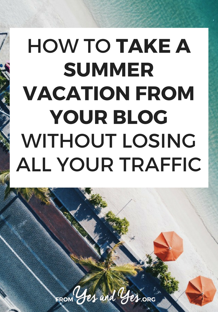 Want to take a blogging break? Put your blog on vacation? You can do it - without losing all your traffic! Read on to find out how! #bloggingtips #bloggingbreak #blogger #socialmediatips