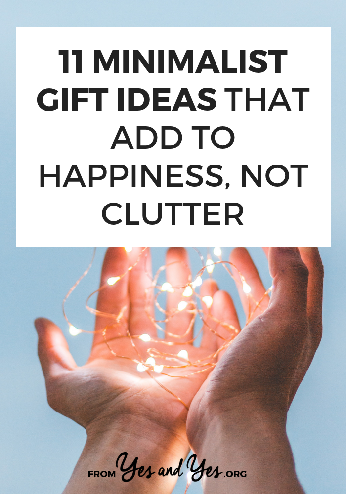 Looking for minimalist gift ideas? You're in the right place! A minimalist present is anything that's consumable, recyclable, or doesn't require dusting or storage. Click through for ideas for EVERYONE on your list! #budgeting #minimalism #FIRE #intentionalspending