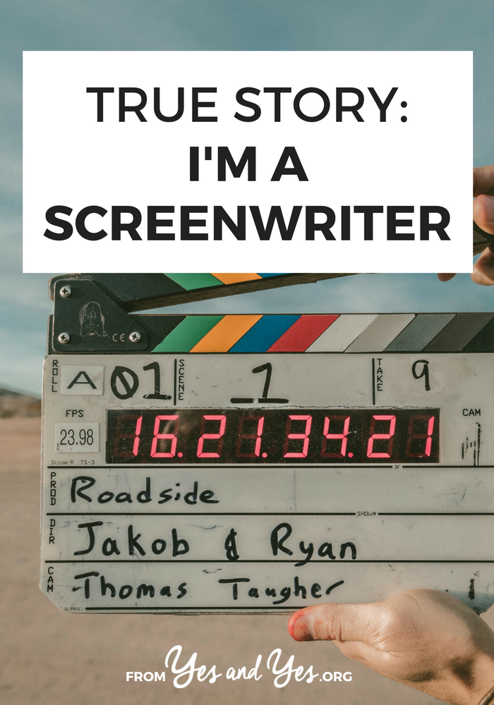 Want to become a screenwriter? Or just learn some great writing tips? Click through for one sreenwriter's career advice!
