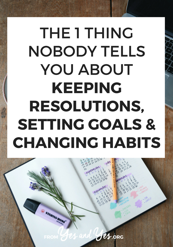 Want to change habits, keep your resolutions, or achieve your goals? It'll be A LOT easier if you know this ONE thing (and I'm probably the only person who's going to tell you). Tap through and find out how to make habit change stick! #habits #goals #resolutions #Successful #Habits #Routine #DailyHabits #Mindset #SelfImprovement #PersonalDevelopment #PersonalGrowth #SelfHelp #Routines #Balance #GrowthMindset
