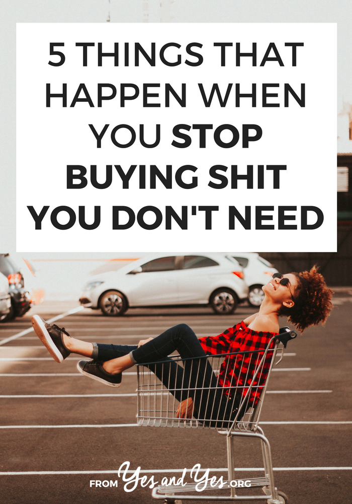 Want to stop buying shit you don't need? Struggling to stick to a budget? Looking for budget tips that don't make you feel deprived? This post will help you stick to your budget. Promise! #personalfinance #moneytips #budgeting #FIRE #savemoney