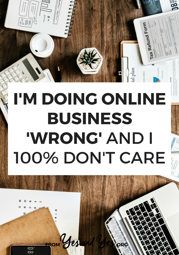 "My people get better results with one-on-one coaching + live courses. So that's what I'm doing, even if that means I'm doing online business ""wrong."""