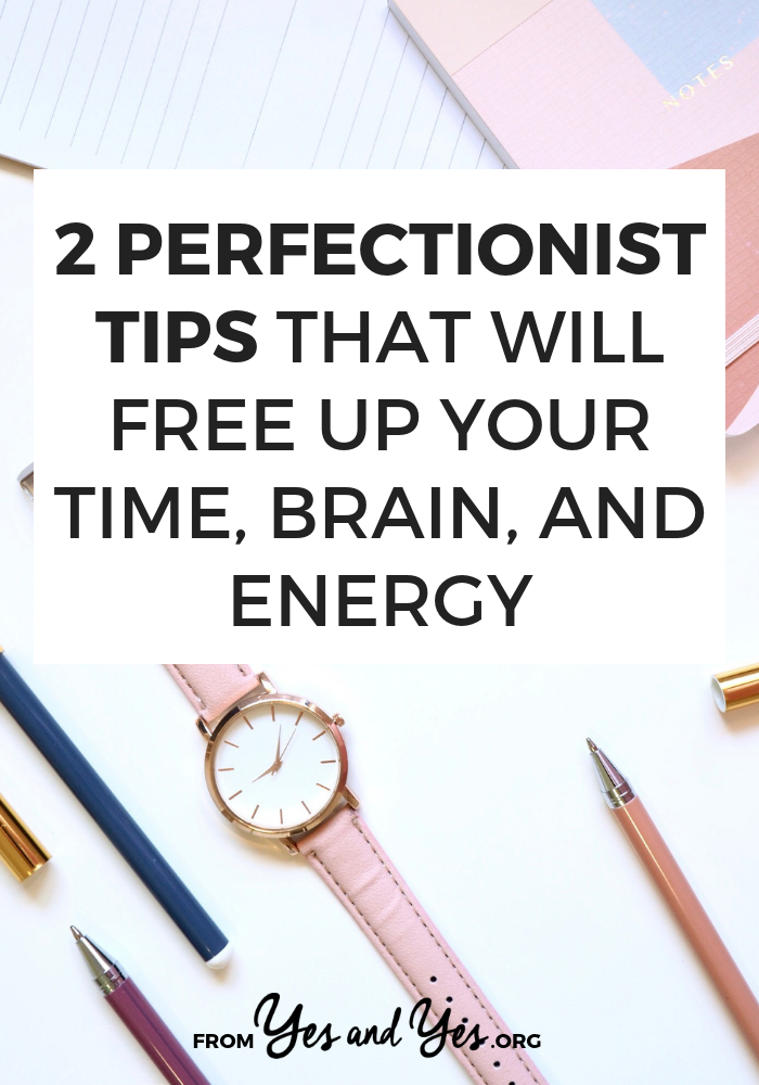 Looking for perfectionist tips that will help you overcome perfectionism? Just want to write better to-do lists in your bullet journal or be more productive? Click through for 2 great tips!