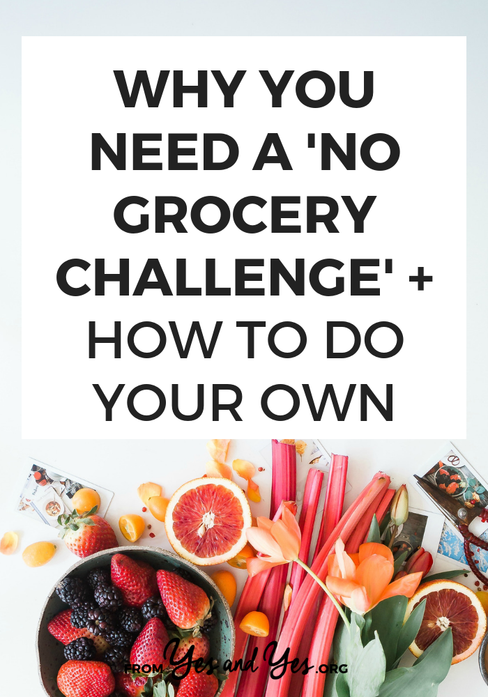 Want to reduce food waste while saving money, time, and eating great meals? WELL DUH OBVIOUSLY. You need to do a No Grocery Challenge! #foodwaste #FIRE #savingmoney #budgettips #moneytips #frugal