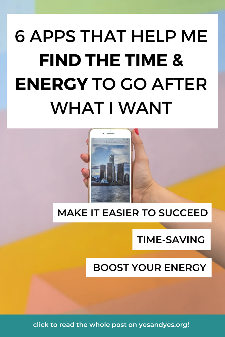 Looking for goal-setting tips or productivity advice? Motivational advice or tips to boost your energy? Read on for 6 time management apps that help me find more time and energy!