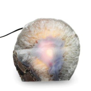 Agate Geode Lamp - Opaque Core