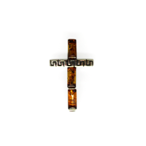 Amber Cross Mini Pendant