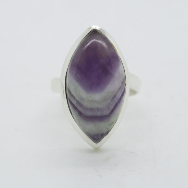 Amethyst Lace Marquise-Shaped Ring in Silver