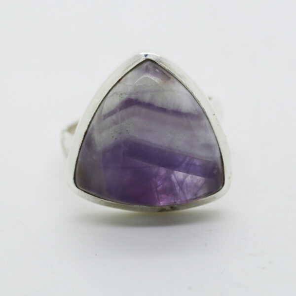 Amethyst Lace Trillion-Shaped Ring in Silver