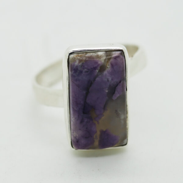 Tiffany Jasperstone Rectangle-Shaped Ring in Silver