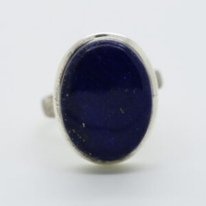 Lapis Oval-Shaped Ring in Silver