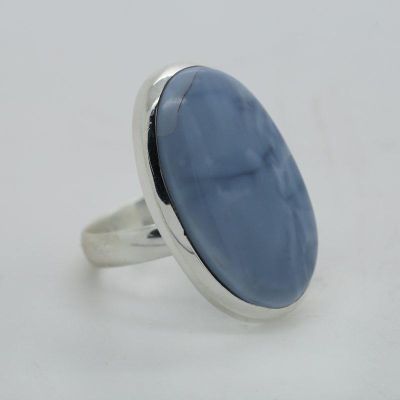 Owyhee Opal Oval-Shaped Ring in Silver