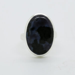 Mystic Merlinite Oval-Shaped Ring in Silver
