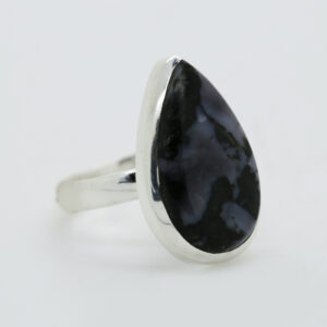 Mystic Merlinite Pear-Shaped Ring in Silver