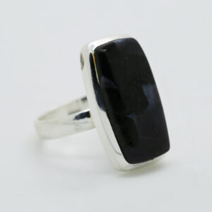 Mystic Merlinite Rectangle-Shaped Ring in Silver