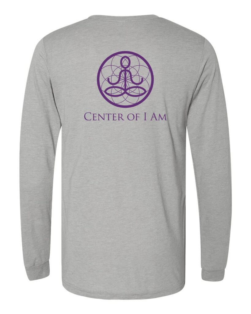 Center of I Am Gray Jersey Long Sleeve Tee