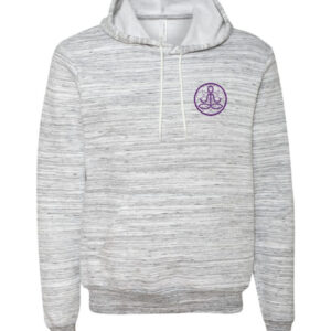 Center of I Am Gray Sponge Fleece Hoodie