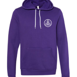 Center of I Am Purple Fleece Hoodie