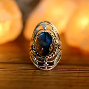 Labradorite in Finger Ring