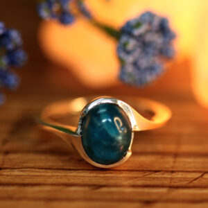 Apatite in Silver Ring