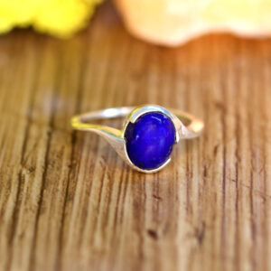 Lapis Ring in Silver